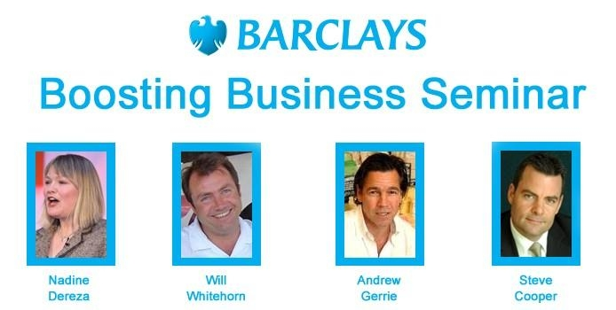 Barclays Bank Boosting Business Seminar at the Hilton Birmingham Metropole