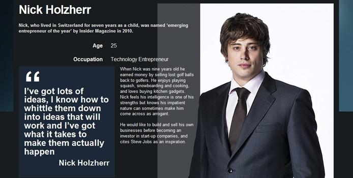 Nick Holzherr from the midlands is on this years Apprentice