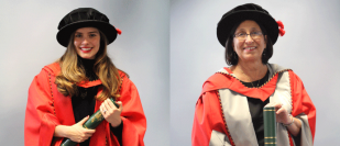 Noreen M Carrocci and Rachel Joy Shenton become Newman Honorary Graduates