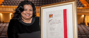Alumni award tops off 2018 for Birmingham engineer, Asha